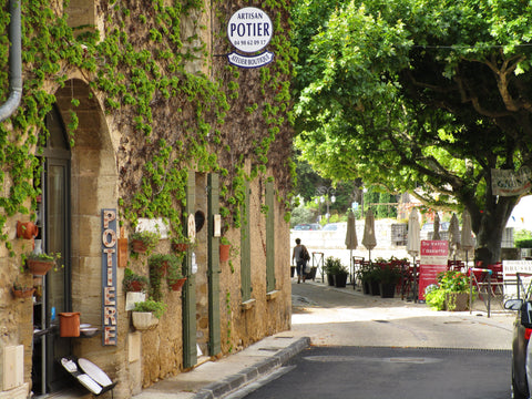 Pottery studio in the main street of Gigondas - a famous wine village in Provence