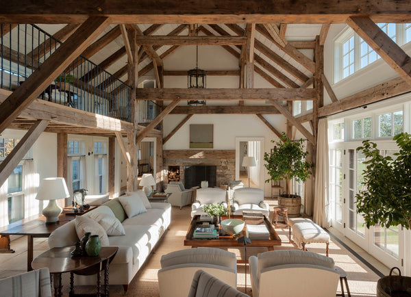 Modern farmhouse living room - Mark Cunningham Martha's Vineyard