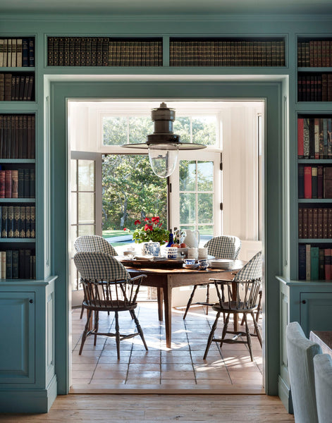 Library and dining area by Mark Cunningham