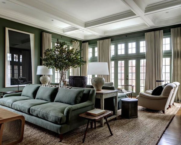 Living room with vintage and antique finds by Mark Cunningham