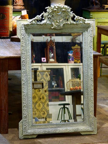Buy the best mirror French white patina online from France fast delivery