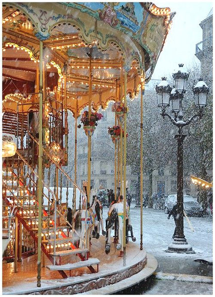 Carousel in Paris Christmas in France vacation ideas