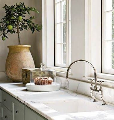 Biot jar French kitchen marble counter