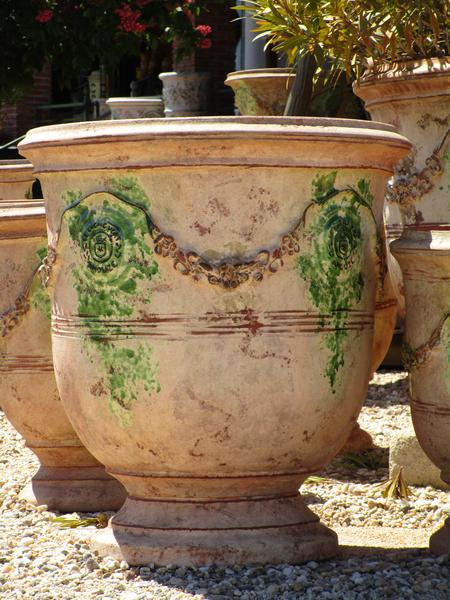 Bespoke French pottery handmade Anduze urn made in France delivered to United States