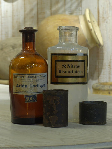 Antique apothecary jars pharmacy glass medicine jars perfect gift Francophile