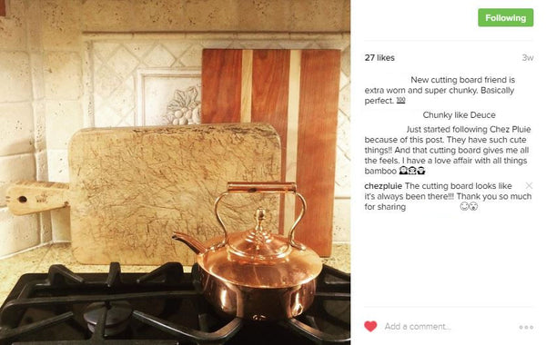 Chez Pluie customer review on instagram