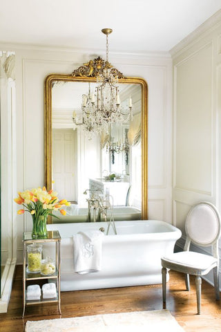 large gilt wood mirror above tub bathroom decorating buy french mirrors direct from france