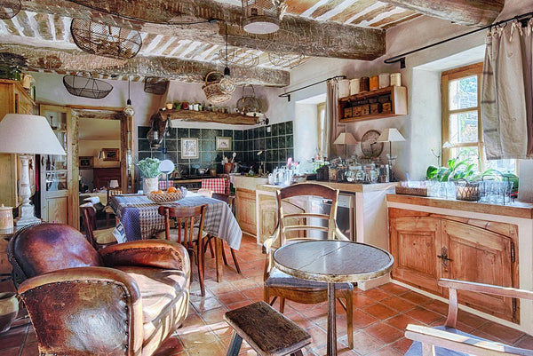 Antiques in a French kitchen in Provence