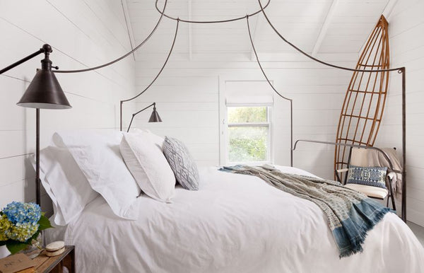 Jenny Wolf fresh crisp white bedroom with rustic touches