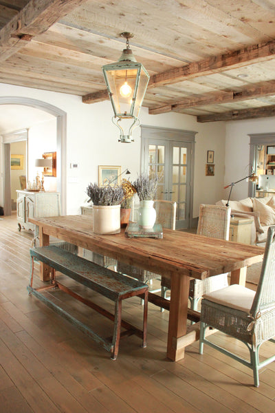 rustic farmhouse table with bench modern farmhouse kitchen - Rustic Farmhouse Table