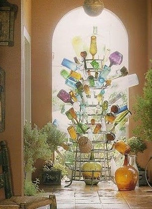 French bottle tree porcupine party decor