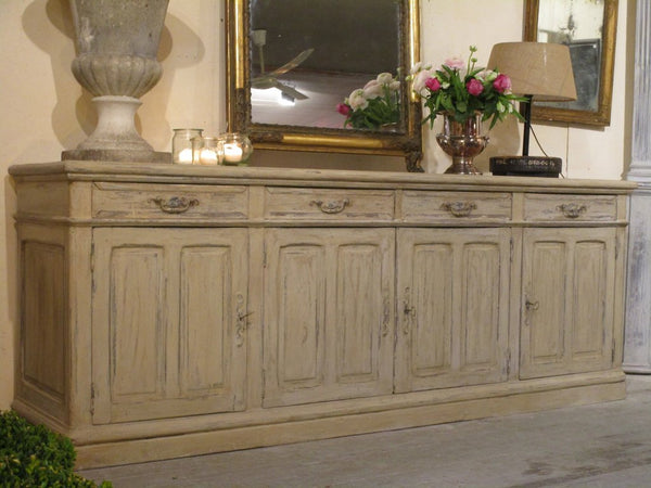 Large French painted oak buffet 1940's mid century modern luxury furniture worldwide shipping