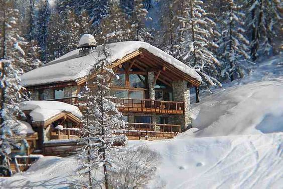 Chalet French Alps christmas skiing vacation snow