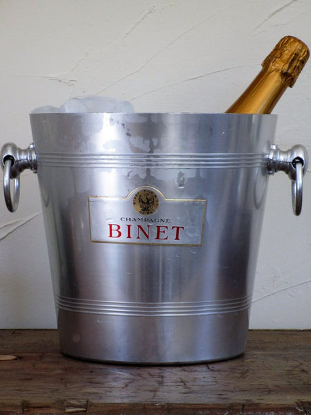French champagne bucket ice bucket Binet champagne French bar accessories farmhouse decor vase