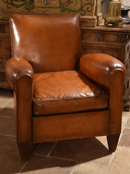 Vintage French leather club chair for sale - A Complete Guide To French Leather Vintage Club Chairs – Chez Pluie