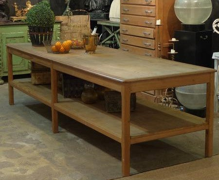 Rustic farmhouse table French drapers table kitchen island modern farmhouse