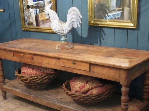 19th century french drapers table