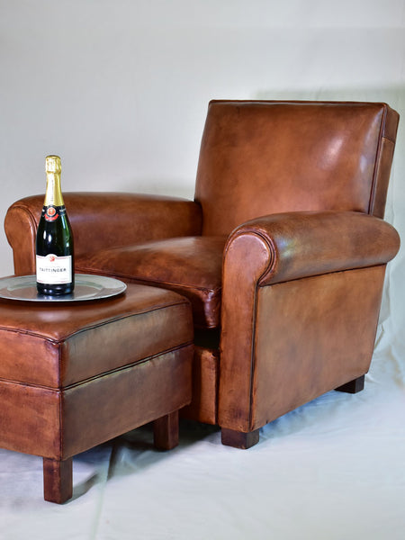 Taittinger French leather club chair