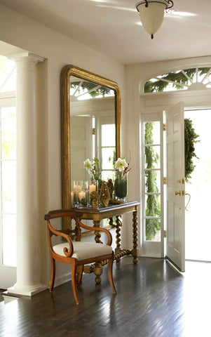 Louis Philippe mirror chic entryway