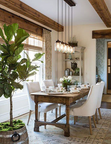 Rustic modern farmhouse table French interior design ideas