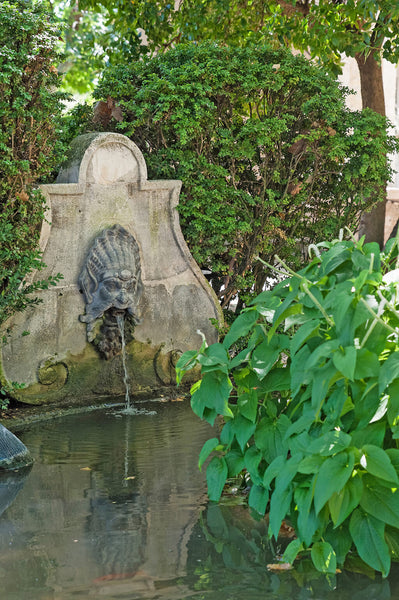 French stone fountain French garden