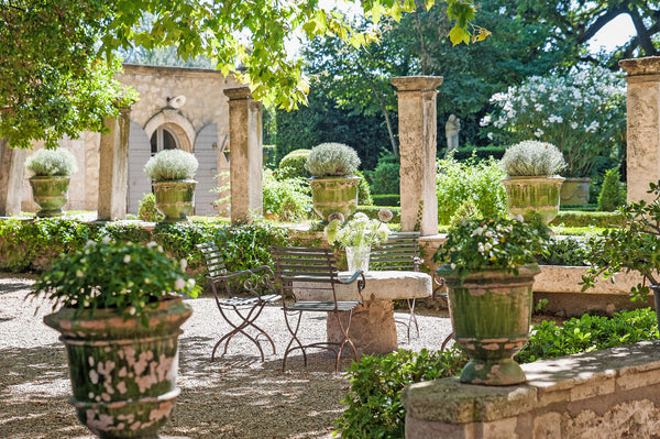 Anduze urns hardscaping French garden