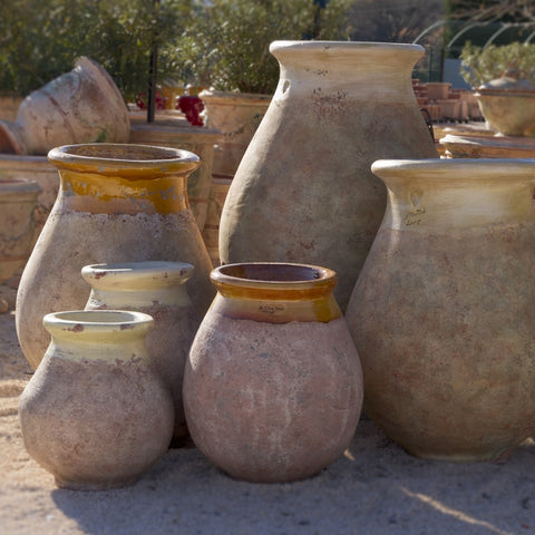 Bespoke french pottery artisan made biot jars ancient olive jars
