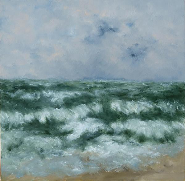 Karibou French artist painter stormy ocean painting