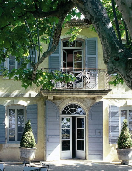 French farm home anduze symmetry shutters plane trees buxus Lafourcade