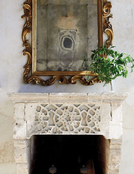 French mirror on fire place mantle buy mirror from france fast delivery