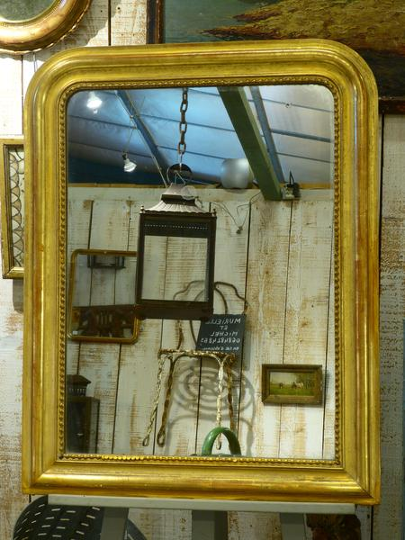 Gilded frame giltwood gold frame French mirror antique Louis Philippe