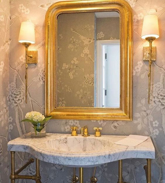 Antique Louis Philippe mirror gilded French mirror powder room bathroom