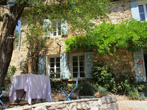 French garden lunch rustic summer Provence