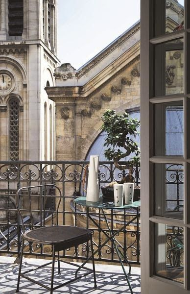 Paris in winter christmas vacation balcony luxe