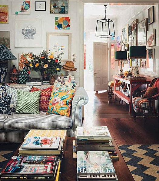Pattern on pattern design trends 2017 living room ideas