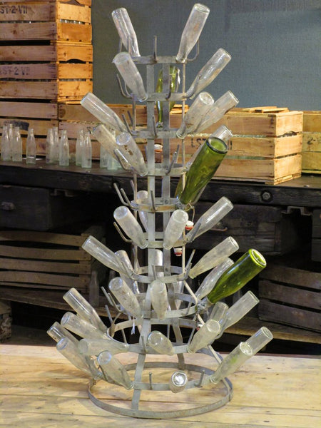 Large French bottle tree hedgehog galvanized French vintage gift for Francophile christmas birthday