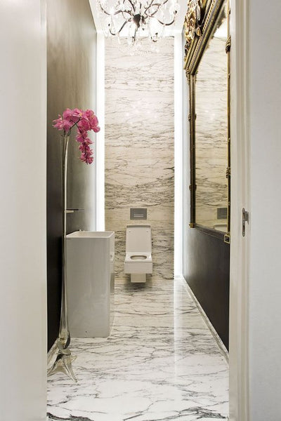 Luxury powder room choose the perfect mirror for powderroom fast shipping