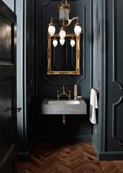 Luxury powder room buy the best French mirror for powderroom fast shipping