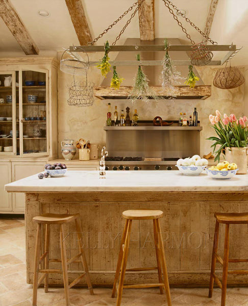Kelly Harmon French style kitchen