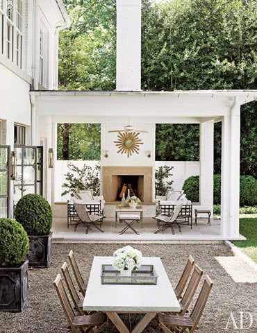 Sunburst mirror in garden outdoor fireplace modern farmhouse inspiration buy french mirrors from france