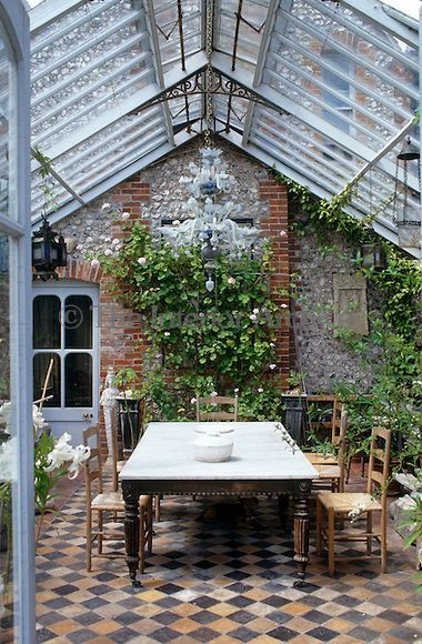 Garden Room Ideas Exposed Brick French Garden