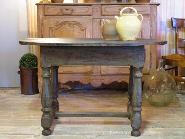 oval oak french rustic farmhouse table small kitchen apartment