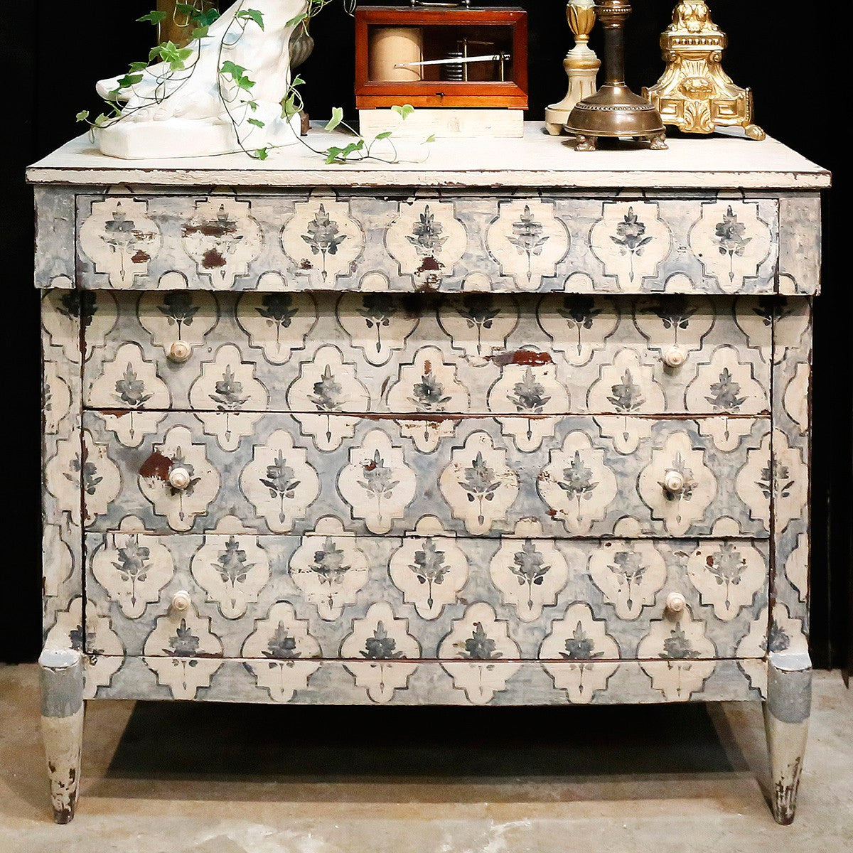Pair of 19th century painted commodes