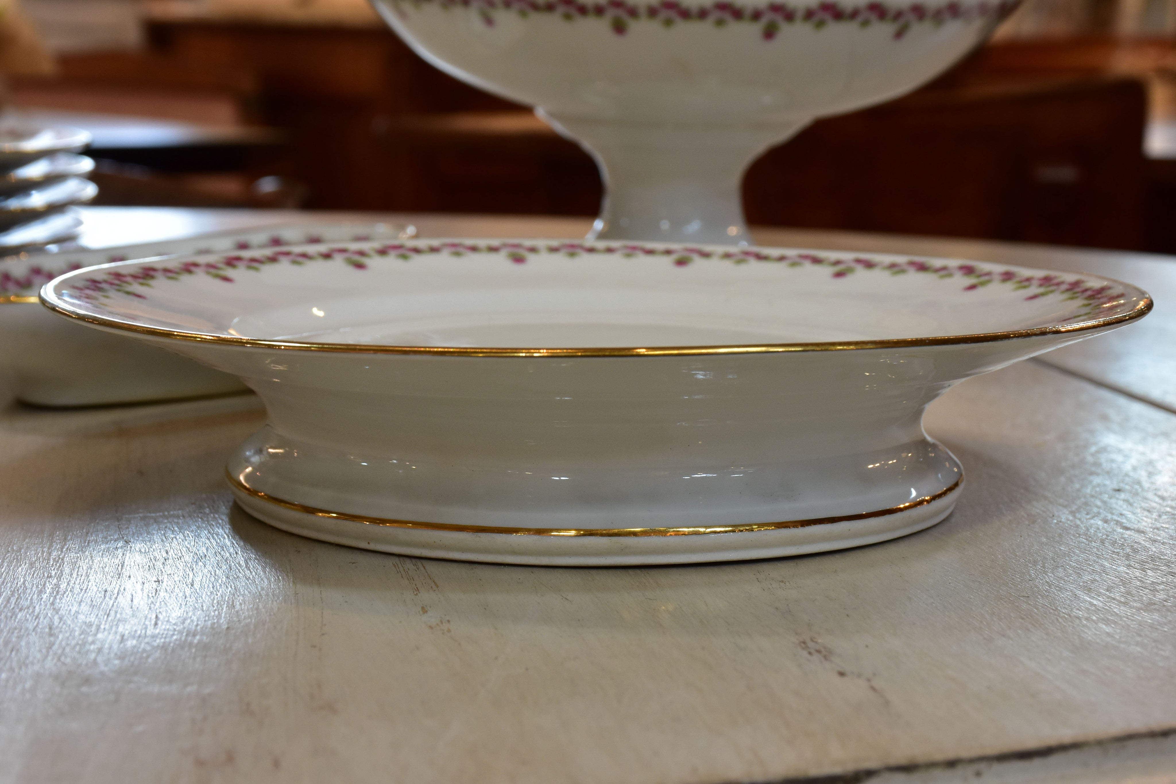 Early 20th century Vierzon dessert service – 13 pieces