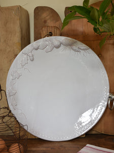 Large round platter - fig and pine