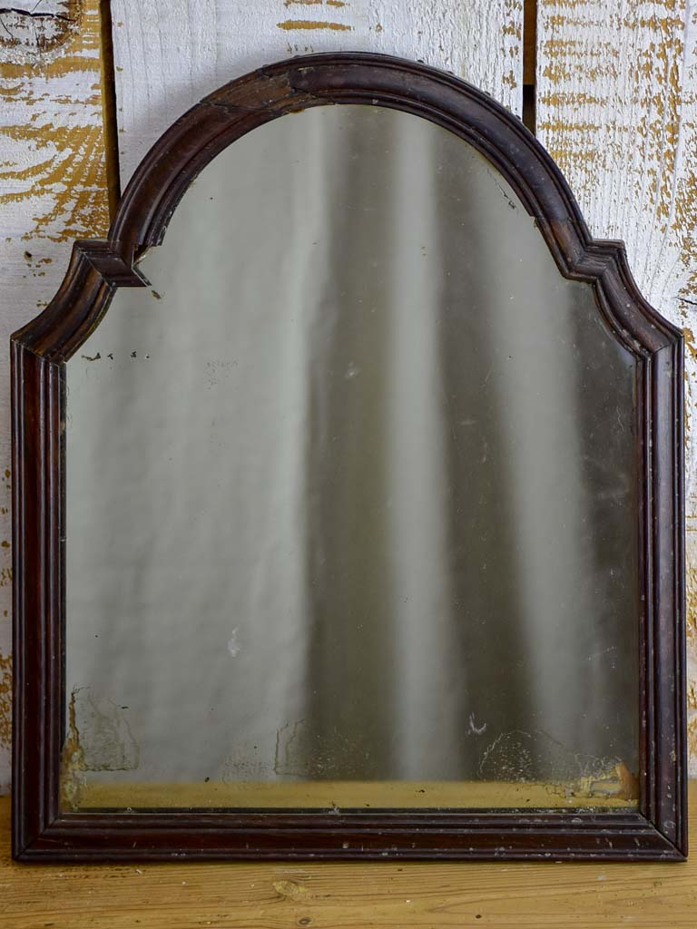 Antique French chapeau gendarme mirror - petite