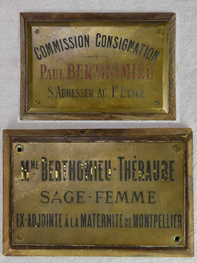 Two early 20th century French signs