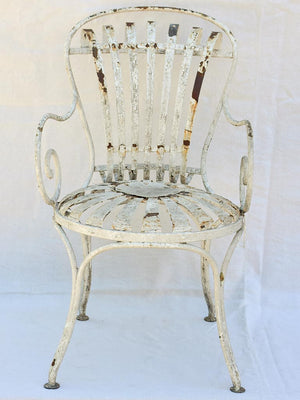Antique French garden armchair - sunflower seat