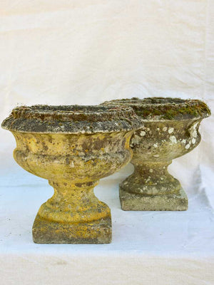Pair of early 20th century French garden urns - Medici form 13½""