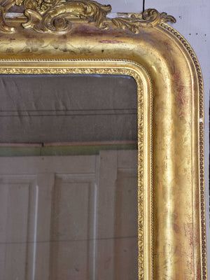 Very large antique French gilded mirror